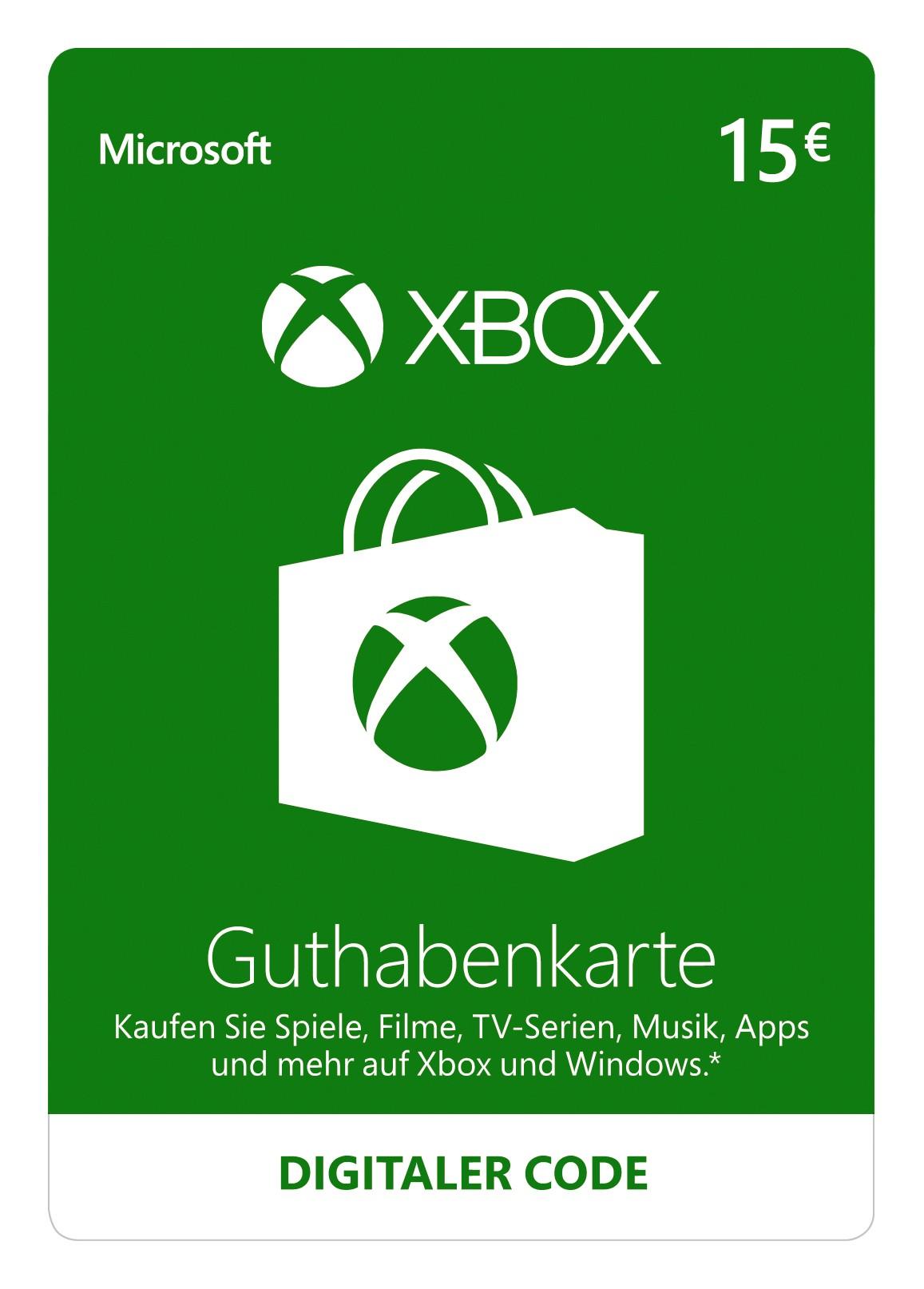 xbox one karte Xbox Guthaben xbox one karte
