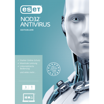 ESET NOD32 Antivirus 2019 3 User 1 Jahr