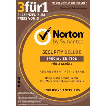 Norton Security Deluxe 1u/3d/1y