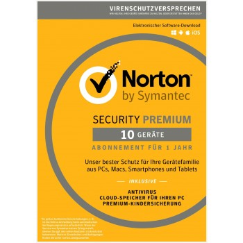 Norton Security Premium 25GB 1u/10d/1y